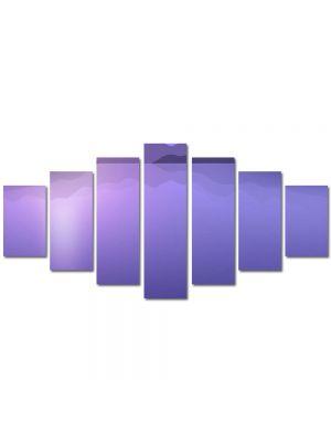 Set Tablouri Multicanvas 7 Piese Abstract Decorativ Peisaj Violet