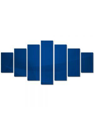 Set Tablouri Multicanvas 7 Piese Abstract Decorativ Vartej albastru