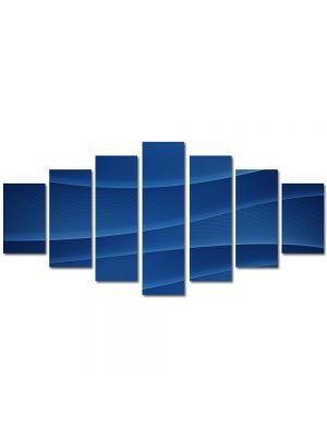 Set Tablouri Multicanvas 7 Piese Abstract Decorativ Dealuri albastre