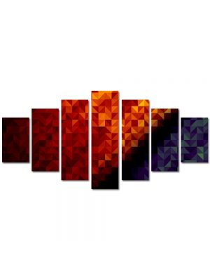 Set Tablouri Multicanvas 7 Piese Abstract Decorativ Patratele