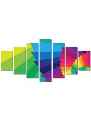 Set Tablouri Multicanvas 7 Piese Abstract Decorativ Elicoidal