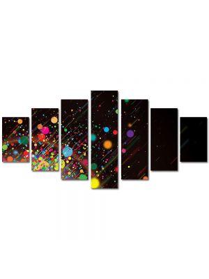 Set Tablouri Multicanvas 7 Piese Abstract Decorativ Stropi de culoare