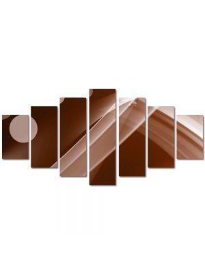Set Tablouri Multicanvas 7 Piese Abstract Decorativ Maroniu