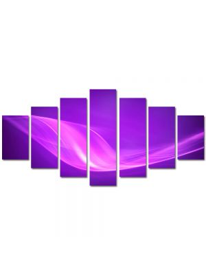 Set Tablouri Multicanvas 7 Piese Abstract Decorativ Raze violet
