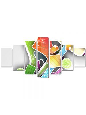 Set Tablouri Multicanvas 7 Piese Abstract Decorativ Asezare artistica