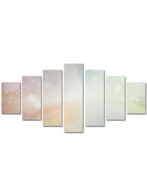 Set Tablouri Multicanvas 7 Piese Abstract Decorativ Lumina puternica