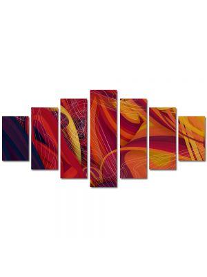 Set Tablouri Multicanvas 7 Piese Abstract Decorativ Spirite