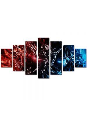 Set Tablouri Multicanvas 7 Piese Abstract Decorativ Foc si gheata