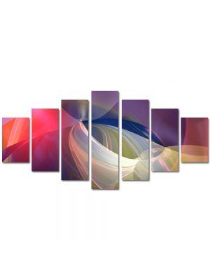 Set Tablouri Multicanvas 7 Piese Abstract Decorativ Lumini blande