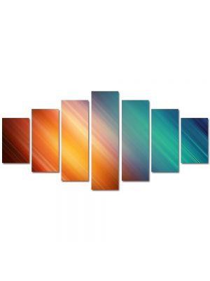 Set Tablouri Multicanvas 7 Piese Abstract Decorativ Lumini nuantate