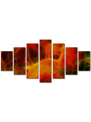 Set Tablouri Multicanvas 7 Piese Abstract Decorativ Panza