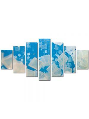 Set Tablouri Multicanvas 7 Piese Abstract Decorativ Cuburi de gheata