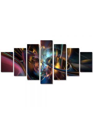 Set Tablouri Multicanvas 7 Piese Abstract Decorativ Lumini si forme