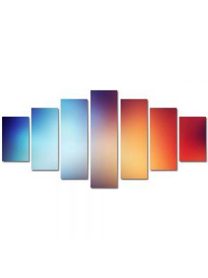 Set Tablouri Multicanvas 7 Piese Abstract Decorativ Rosu si albastru