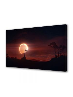 Tablou Canvas Animale Eclipsa in Africa