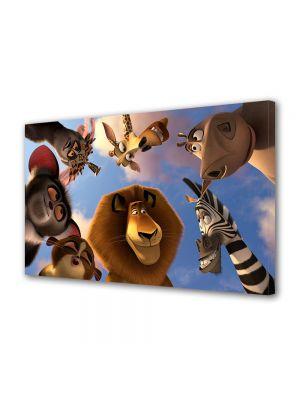 Tablou VarioView LED Animatie pentru copii Animalele din Madagascar 3