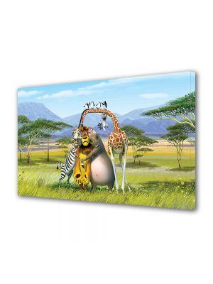 Tablou Canvas pentru Copii Animatie Madagascar The Crate Escape