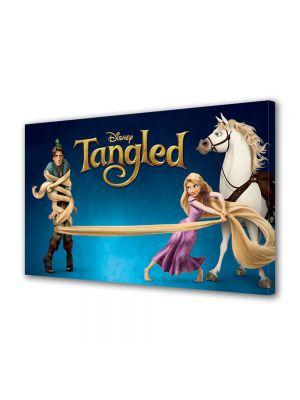 Tablou Canvas pentru Copii Animatie Tangled Rapunzel, Flynn si Maximus