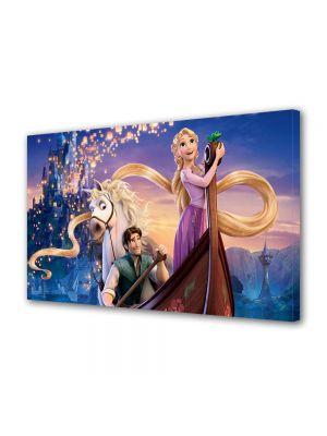 Tablou Canvas pentru Copii Animatie Tangled Scena cu Barca