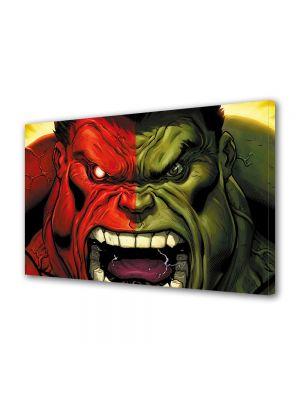 Tablou Canvas pentru Copii Animatie Red Hulk vs Green Hulk