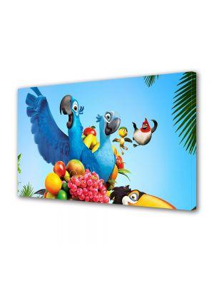 Tablou Canvas pentru Copii Animatie Rio Papagalul Albastru