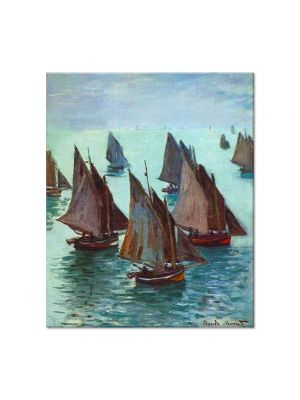 Tablou Arta Clasica Pictor Claude Monet Fishing Boats, Calm Sea 1868 80 x 90 cm