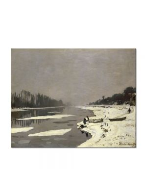 Tablou Arta Clasica Pictor Claude Monet Ice Floes on the Seine at Bougival 1868 80 x 100 cm