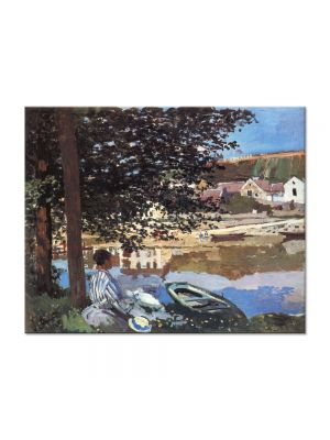Tablou Arta Clasica Pictor Claude Monet River Scene at Bennecourt 1868 80 x 100 cm