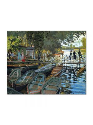 Tablou Arta Clasica Pictor Claude Monet Bathers at La Grenouillere 1869 80 x 100 cm