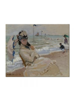 Tablou Arta Clasica Pictor Claude Monet Camille on the Beach at Trouville 1870 80 x 100 cm