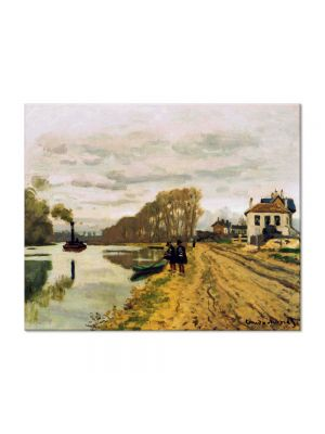 Tablou Arta Clasica Pictor Claude Monet Infantry Guards Wandering along the River 1870 80 x 100 cm