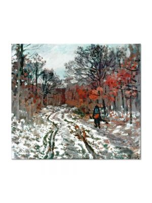 Tablou Arta Clasica Pictor Claude Monet Path through the Forest, Snow Effect 1870 80 x 90 cm