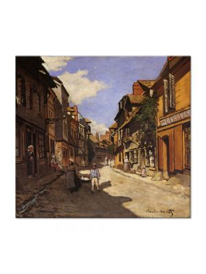 Tablou Arta Clasica Pictor Claude Monet Street of the Bavolle Honfleur 1864 80 x 90 cm