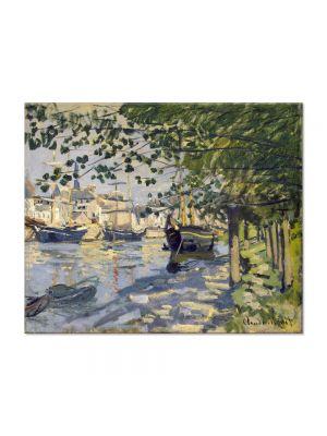 Tablou Arta Clasica Pictor Claude Monet Seine at Rouen 1872 80 x 100 cm