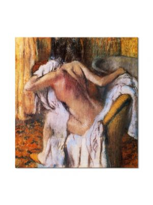 Tablou Arta Clasica Pictor Edgar Degas After the Bath, Woman Drying Herself 1892 80 x 80 cm