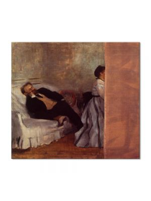 Tablou Arta Clasica Pictor Edgar Degas M. and Mme Edouard Manet 1869 80 x 90 cm