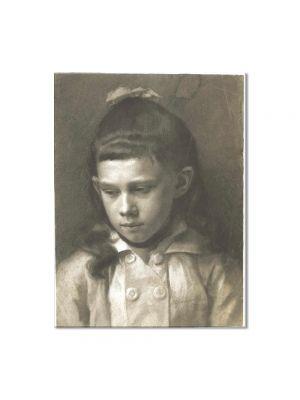 Tablou Arta Clasica Pictor Gustav Klimt Portrait of a Girl, Head Slightly Turned Left 1879 80 x 100 cm