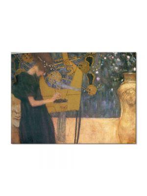 Tablou Arta Clasica Pictor Gustav Klimt Music 1895 80 x 110 cm