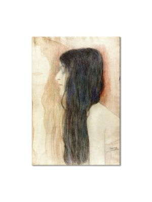 Tablou Arta Clasica Pictor Gustav Klimt Girl with Long Hair, with a sketch for 'Nude Veritas' 1899 80 x 100 cm
