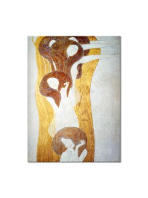 Tablou Arta Clasica Pictor Gustav Klimt The Beethoven Frieze: The Hostile Powers. Left part, detail 1902 80 x 120 cm