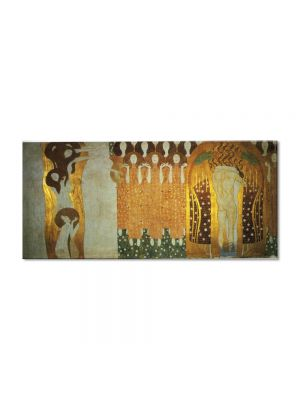 Tablou Arta Clasica Pictor Gustav Klimt The Beethoven Frieze: The Longing for Happiness Finds Repose in Poetry. Right wall, detail 1902 80 x 100 cm