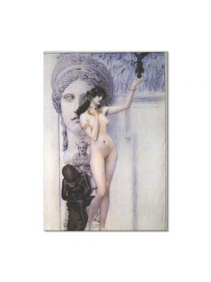 Tablou Arta Clasica Pictor Gustav Klimt Allegory of Sculpture 1889 80 x 100 cm