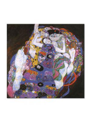 Tablou Arta Clasica Pictor Gustav Klimt Ria Munk on the Deathbed 1912 80 x  80 cm