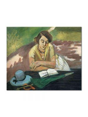 Tablou Arta Clasica Pictor Henri Matisse Reading Woman with Parasol 1921 80 x 90 cm