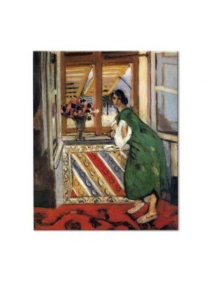 Tablou Arta Clasica Pictor Henri Matisse Young Girl in a Green Dress 1921 80 x 90 cm