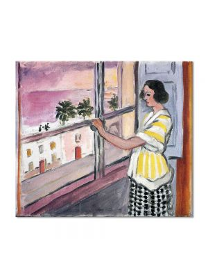 Tablou Arta Clasica Pictor Henri Matisse Young Woman at the Window, Sunset 1921 80 x 90 cm