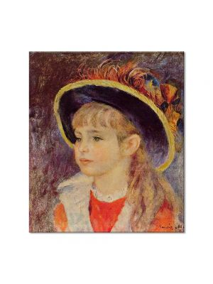Tablou Arta Clasica Pictor Pierre-Auguste Renoir Young girl in a blue hat 1881 80 x 90 cm