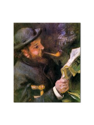Tablou Arta Clasica Pictor Pierre-Auguste Renoir Claude Monet reading 1872 80 x 90 cm