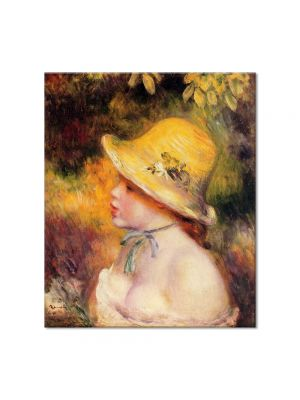 Tablou Arta Clasica Pictor Pierre-Auguste Renoir Young girl in a straw hat 1890 80 x 90 cm