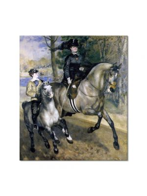 Tablou Arta Clasica Pictor Pierre-Auguste Renoir Riding in the bois de Boulogne Madame Henriette Darras or the ride 1873 80 x 90 cm